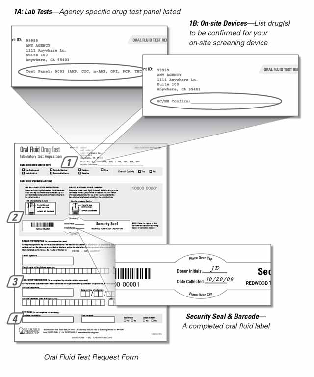 saliva labeling labeling shipping resources redwood toxicology laboratory. Black Bedroom Furniture Sets. Home Design Ideas